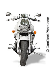 Motorcycle isolated on white background. Motorcycle shoot in...
