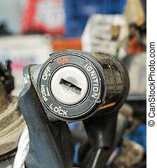 Motorcycle key hole