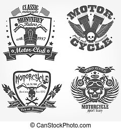 Motorcycle label set