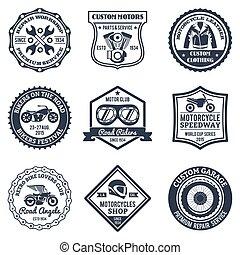 Motorcycle Labels Black