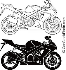 Motorcycle - Layered vector illustration of motorcycle.
