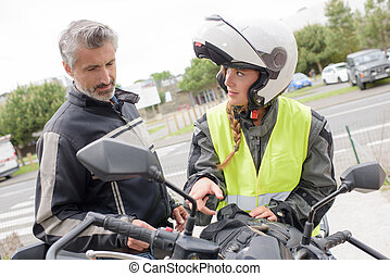 motorcycle lesson