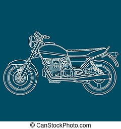 Motorcycle lie drawing