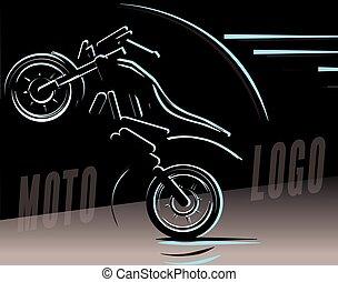 Motorcycle logo illustration, motocross freestyle