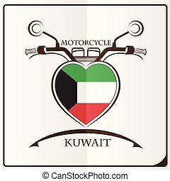 motorcycle logo made from the flag of Kuwait