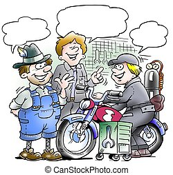 Motorcycle mechanics share their experiences
