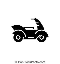 motorcycle - motorbike icon, vector illustration, black sign on isolated background