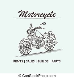 Motorcycle old poster illustration