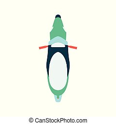 Motorcycle or bike top view flat vector illustration ...