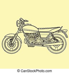 Motorcycle outline