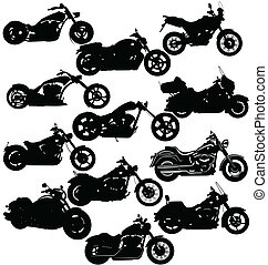 Illustration Package of motorcycle