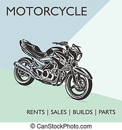 Motorcycle parts poster vector illustartion