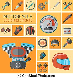 Motorcycle parts set