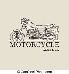 Motorcycle poster logo retro illustration