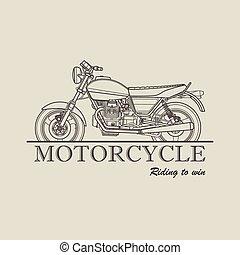 Motorcycle poster logo retro illustration