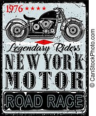 Motorcycle Poster T-shirt Graphic