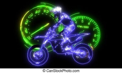 Motorcycle race cornering laser animation - Motorcycle race...