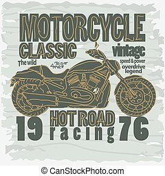 Motorcycle Racing t-shirt - vector