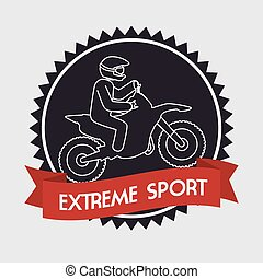 motorcycle rider extreme sport banner