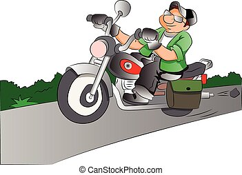 Motorcycle Rider, illustration - Motorcycle Rider, vector...