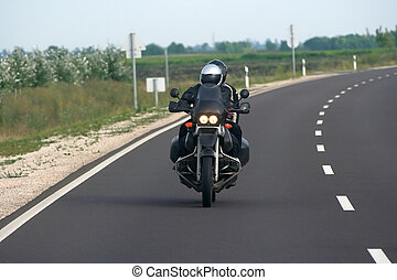 Motorcycle riders on the highway