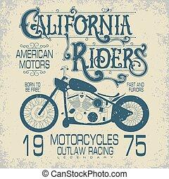 Motorcycle sport emblem
