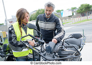 motorcycle student