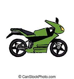 motorcycle transport adventure image vector illustration eps...