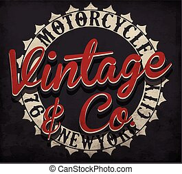 Motorcycle typography; t-shirt graphics; vectors