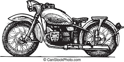 motorcycle. - Vector drawing of motorcycle stylized as...