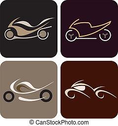 Motorcycle - vector icon