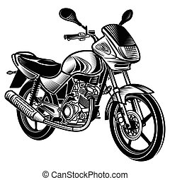 Motorcycle  Vector Illustration.