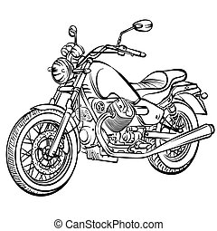 motorcycle vintage vector