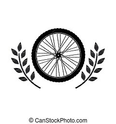 motorcycle wheel award in monochrome striped with olive...