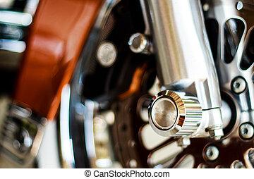 motorcycle wheel hub - Front wheel of motorcycle, large ...