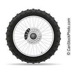 motorcycle wheel tire from the disk illustration isolated on...