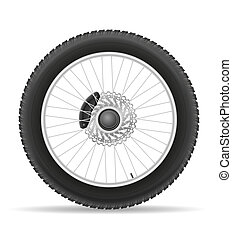 motorcycle wheel tire from the disk illustration -...