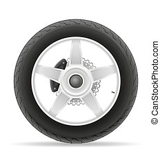 motorcycle wheel tire from the disk vector illustration...