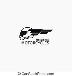 Motorcycles accessories black logotype