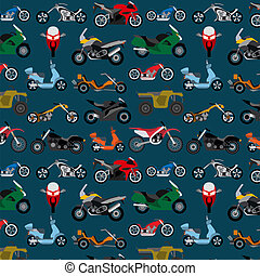 Motorcycles background, pattern