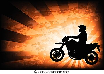 motorcyclist-abstract background