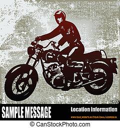 Motorcyclist Background - Motorcyclist Vector Background