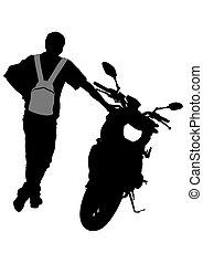 Motorcyclist man