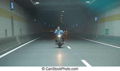 Motorcyclist on the Open Road close-up