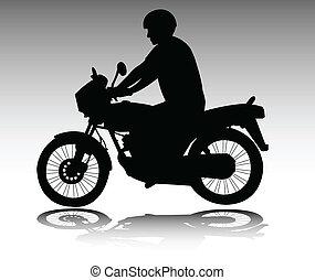 motorcyclist - vector
