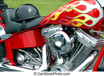 motorcykel, chopper