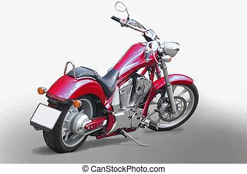 motorcykel, isolerat