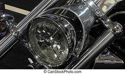 motorcykel, pannlampa