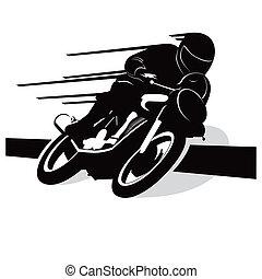 motorcykel, vektor, bakgrund