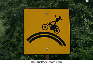 Motorcyle Warning - A caution sign for motorcycles.